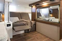 Second Stateroom Recliner of a Cruiser Yachts 45 Cantius