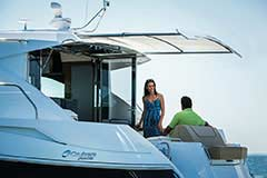 Sunshade of a Cruiser Yachts 45 Cantius