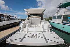 Transom Storage of a Cruiser Yachts 45 Cantius