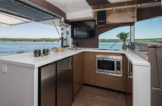 Galley of a Cruiser Yachts 45 Cantius