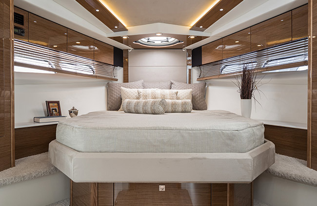 Master Stateroom of a Cruiser Yachts 45 Cantius