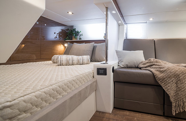 Second Stateroom of a Cruiser Yachts 45 Cantius
