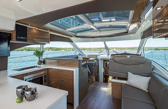 Upper Salon of a Cruiser Yachts 45 Cantius