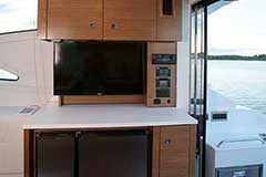 Fridge of a Cruiser Yachts 46 Cantius