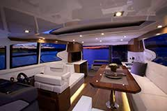 Upper Salon of a Cruiser Yachts 46 Cantius