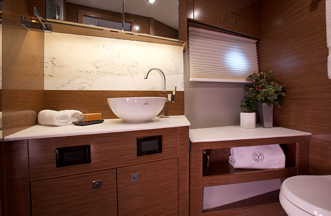 Master Head of a Cruiser Yachts 46 Cantius