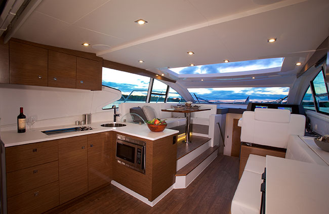 Salon of a Cruiser Yachts 46 Cantius