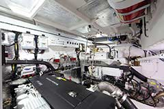 Engine Room for a Cruiser Yachts 50 Cantius