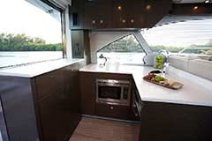 Galley for a Cruiser Yachts 50 Cantius