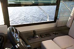 Helm Controls for a Cruiser Yachts 50 Cantius