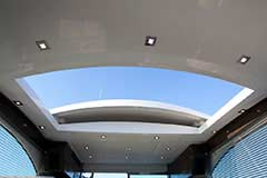 Sunroof Open for a Cruiser Yachts 50 Cantius