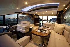 Upper Salon for a Cruiser Yachts 50 Cantius