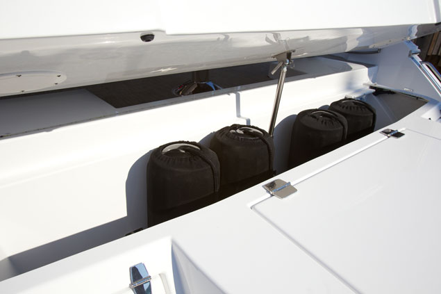 Transom Storage for a Cruiser Yachts 50 Cantius