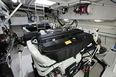 Engine Room of a Cruiser Yachts 54 Cantius
