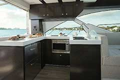 Galley of a Cruiser Yachts 54 Cantius