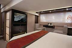 Master Stateroom of a Cruiser Yachts 54 Cantius