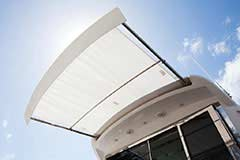 Sunshade of a Cruiser Yachts 54 Cantius