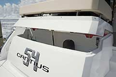 Transom Storage of a Cruiser Yachts 54 Cantius