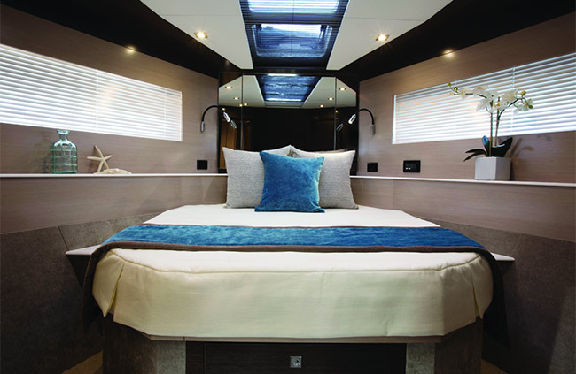 VIP Stateroom of a Cruiser Yachts 54 Cantius