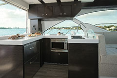 Galley of a Cruiser Yachts 54 Fly