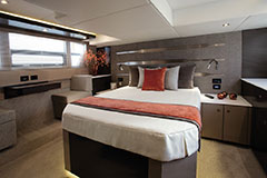 Master Stateroom of a Cruiser Yachts 54 Fly