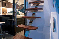 Stairs of a Cruiser Yachts 54 Fly