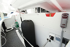 Transom Storage of a Cruiser Yachts 54 Fly