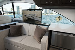 TV of a Cruiser Yachts 54 Fly