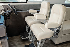 Captains Chairs of a Cruiser Yachts 60 Cantius