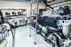 Engine Room of a Cruiser Yachts 60 Cantius