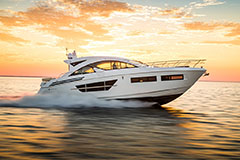 Exterior of a Cruiser Yachts 60 Cantius
