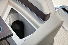 Fender Storage of a Cruiser Yachts 60 Cantius