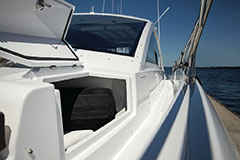 Foredeck Storage of a Cruiser Yachts 60 Cantius
