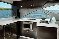 Galley of a Cruiser Yachts 60 Cantius