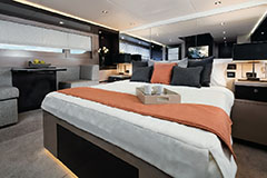 Master Stateroom of a Cruiser Yachts 60 Cantius