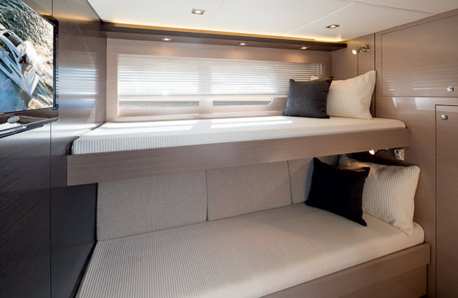 Third Stateroom of a Cruiser Yachts 60 Cantius