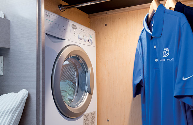 Washer & Dryer of a Cruiser Yachts 60 Cantius