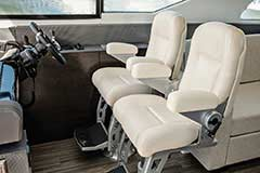 Captains Chairs of a Cruiser Yachts 60 Fly