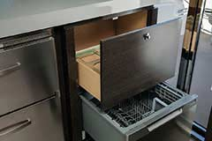 Dishwasher of a Cruiser Yachts 60 Fly