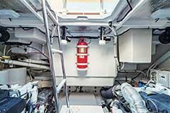 Engine Room of a Cruiser Yachts 60 Fly