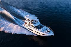 Exterior of a Cruiser Yachts 60 Fly