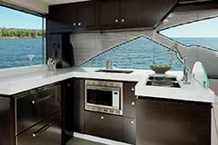 Galley of a Cruiser Yachts 60 Fly