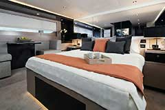 Master Stateroom of a Cruiser Yachts 60 Fly
