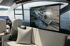 TV of a Cruiser Yachts 60 Fly