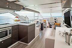 Upper Salon of a Cruiser Yachts 60 Fly