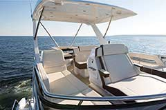 Flybridge of a Cruiser Yachts 60 Fly