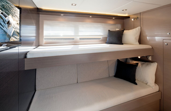 Third Stateroom of a Cruiser Yachts 60 Fly