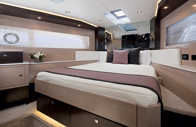 VIP Stateroom of a Cruiser Yachts 60 Fly